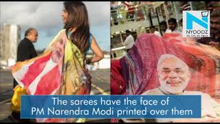 Narendra Modi sarees are a new buzz in town..