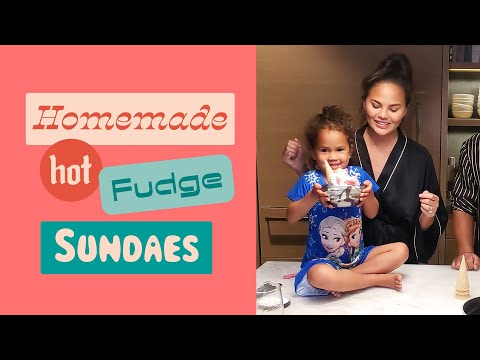 Chrissy Teaches Luna How to Make Her Homemade Hot Fudge