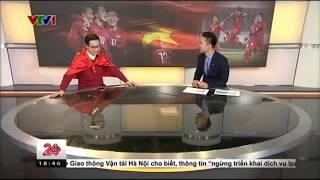 Tạ Biên Cương Cướp Sóng VTV 24 Ăn Mừng Chiến Thắng Lịch Sử U23 Việt Nam
