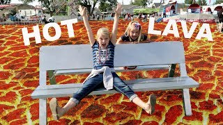 THE FLOOR IS LAVA AT A CARNIVAL!!