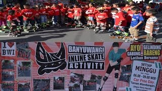 Lucunya Anak anak Belajar Sepatu Roda-Banyuwangi InLine Skate Activity