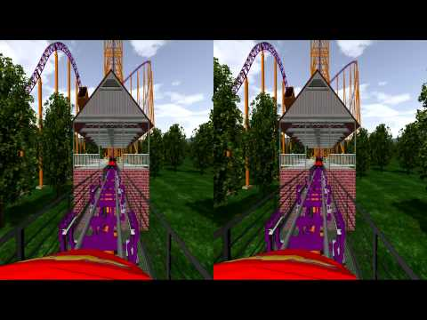 3D Rollercoaster: Plutonium (3D for PC/3D phones/3D TVs/Crossed Eyes)