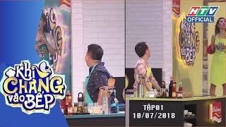 HTV KHI CHÀNG VÀO BẾP | Anh Đức, Diệp Tiên náo loạn bếp vì Nam Thư, Puka | KCVB #1 FULL | 10/7/2018