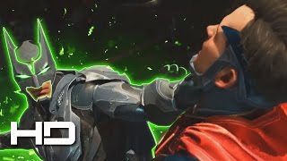 Batman's Kryptonite-Suit Destroys Superman Full Fight 1080p HD | INJUSTICE 2 Good ENDING Cutscene