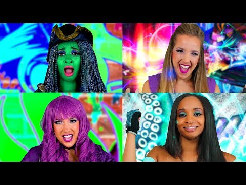 Descendants 2 Sing Along: Uma vs Mal Rap Battle Lyric Video. Totally TV