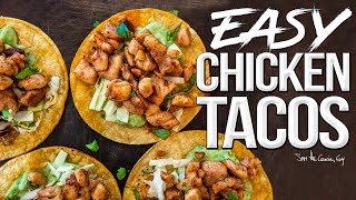 Easy Grilled Chicken Tacos (w/ Avocado Cream Sauce)   SAM THE COOKING GUY 4K