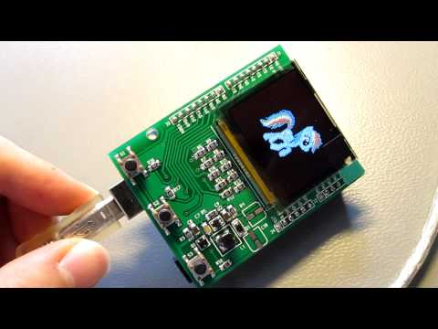 Animation test on the Arduino OLED display shield