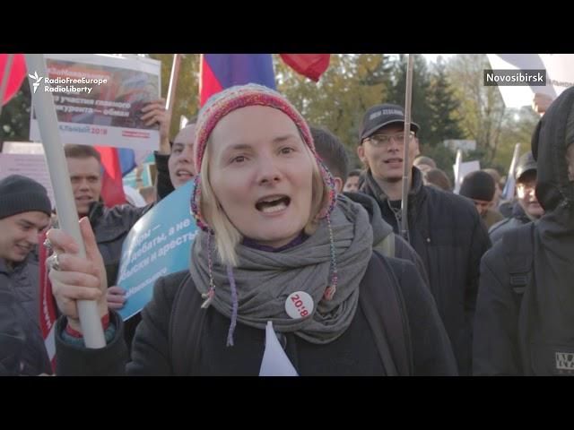 普京迎接生日禮 反對派支持者街頭抗議