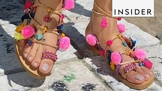 How a Designer Makes These Pom Pom Sandals