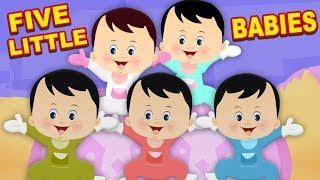 cinco pequeños bebés rima   compilación de canciones para niños   rimas en español