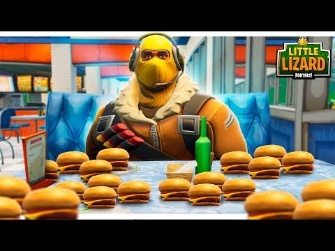 RAPTOR GETS FAT OFF DURR BURGERS! - FORTNITE SHORT FILMS