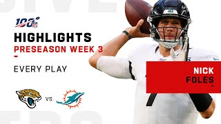 Every Nick Foles Play vs. Dolphins | NFL 2019 Highlights