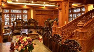 Cận cảnh căn biệt thự toàn Đồ Gỗ với giá... 55 tỷ đồng, ai cũng bất ngờ khi thấy nội thất bên trong!