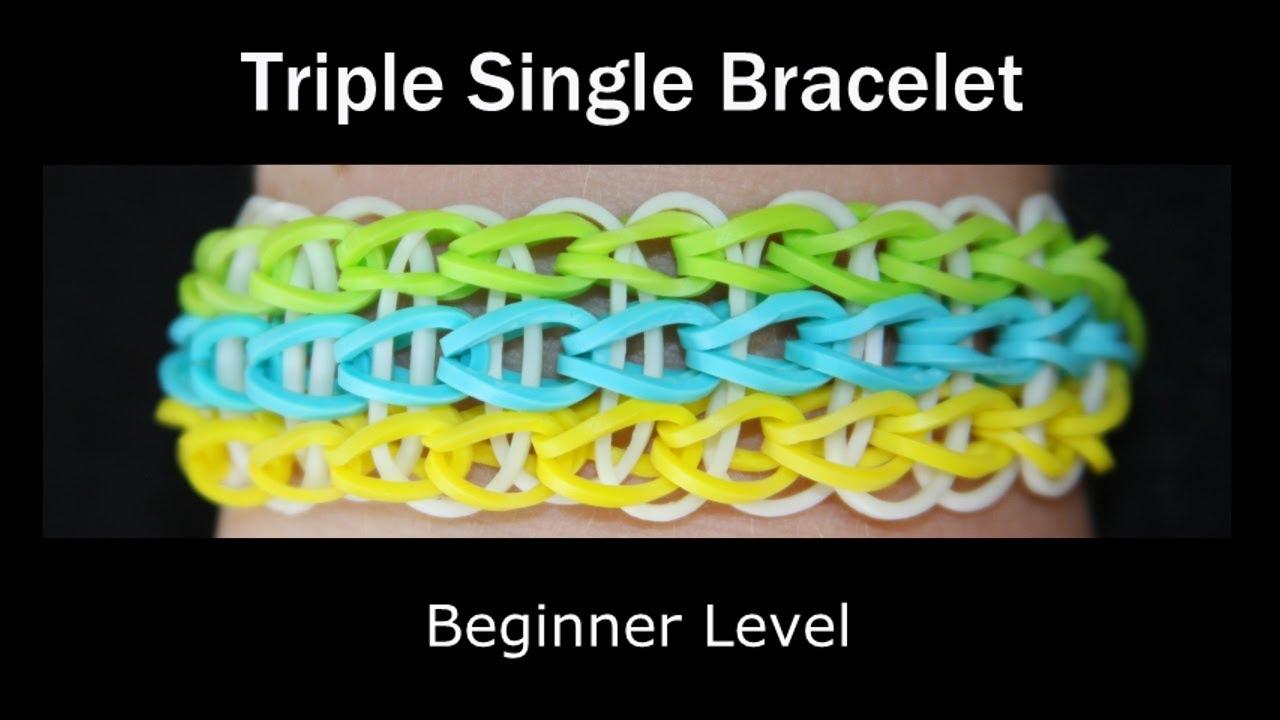 Rainbow Loom 174 Triple Single Bracelet Youtube