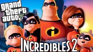 GTA 5 Mods - THE INCREDIBLES 2 MOD w/ Mr Incredible & Mrs Incredible (GTA 5 PC Mods Gameplay)