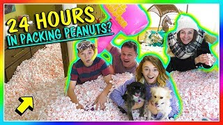 24 HOURS IN PACKING PEANUTS - OVERNIGHT CHALLENGE | We Are The Davises