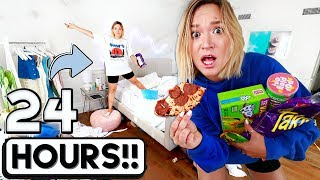 24 HOUR OVERNIGHT ROOM CHALLENGE!!  *I went crazy*