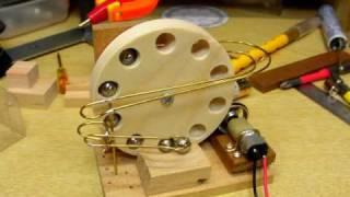 Test run of tiny wheel
