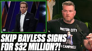 Pat McAfee Reacts To Skip Bayless' $32 Million Deal With Fox