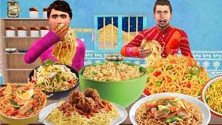 नूडल्स चुनौती NOODLES Food Challenge funny Comedy Story Hindi Kahani हिदी कहानिय Hindi Comedy Videos