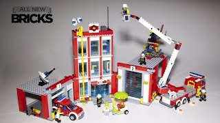 /lego city 60110 fire station speed build