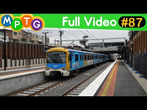 Melbourne's Metro Trains at new McKinnon Station (Incomplete Station) (Full Video #87)