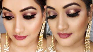 Indian Party Makeup Glitter eye makeup for wedding   पार्टी मेकअप शादी फंक्शन्स के लिए कैसे करें