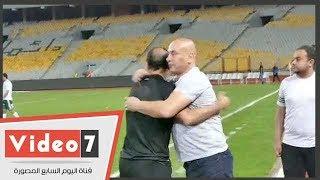 حسام حسن لـ أيوب بعد هزيمة المصرى من الأهلى: كل سنة وأنت طيب ...