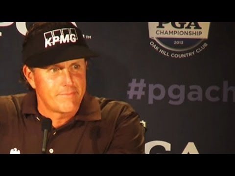 Phil Mickelson interview at Oak Hill for 2013 PGA Championship ...