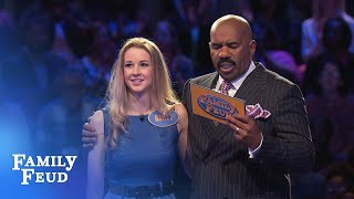 Bailey and Brandy chase Fast Money! | Family Feud