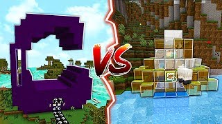 GLASS HOUSE VS OBSIDIAN HOUSE IN MINECRAFT!