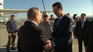 Putin Joins Assad at Military Base in Syria