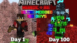 100 Days in Minecraft but there's TONS OF MODS IN 1.16.4