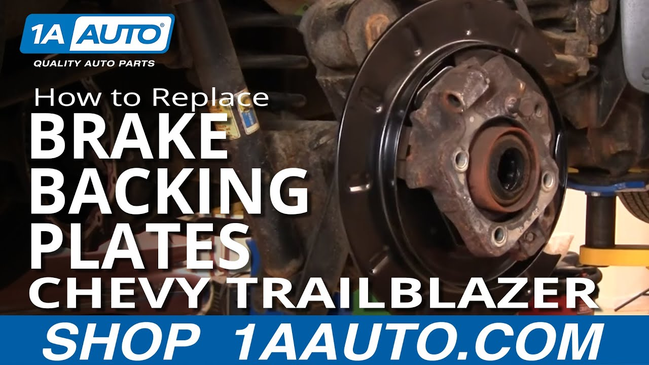 1AAuto.com PART 2 Replace Rusted Rear Brake Backing Plates ...