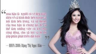 Những câu trả lời ứng xử ghi điểm của Hoa hậu Việt Nam
