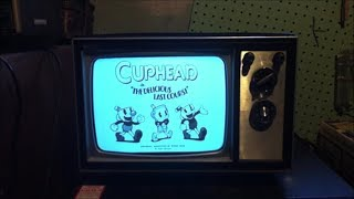 Cuphead DLC Announcement Trailer with a Black and White T.V.