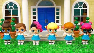 School Cheerleaders! Toys and Dolls Fun for Kids with LOL Surprise Babies - Baby Doll Play