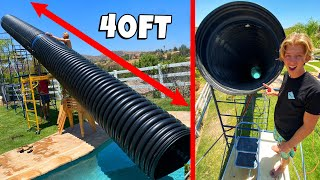 GIANT $5000 BACKYARD WATER SLIDE *BACKYARD WATER PARK*