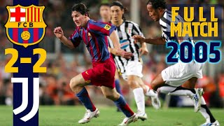 FULL MATCH | The day the world fell in love with Leo Messi | FC Barcelona – Juventus (2005)