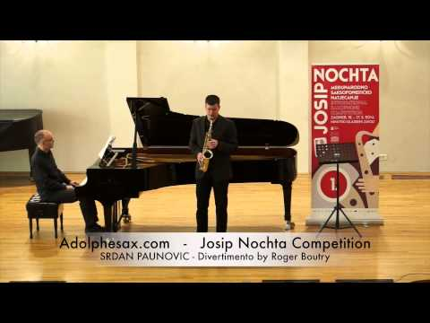JOSIP NOCHTA COMPETITION SRDAN PAUNOVIC Divertimento by Roger Boutry