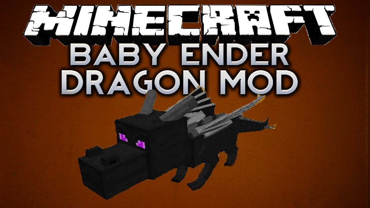 Minecraft Baby Ender Dragon Mod Youtube