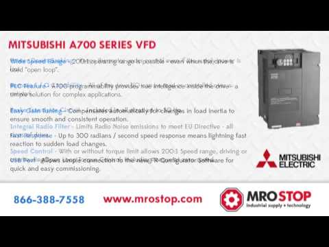Mitsubishi A700 Series Variable Frequency Drives