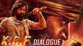 #KGF Movie Dialogue | Yash KGF Movie Release Date |Rocking Star Yash  KGF Movie Trailer Release Date