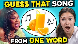 Can YOU Guess That Song From One Word Only?