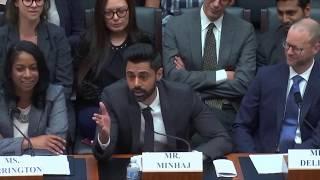 Hasan Minhaj's testimony before Congress on the student loan crisis (read description)