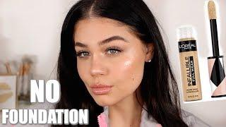 NO FOUNDATION GLOWY Makeup Tutorial 2019 | Blissfulbrii