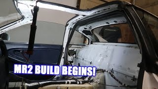 Getting a Roll Cage Installed in the Mr2!