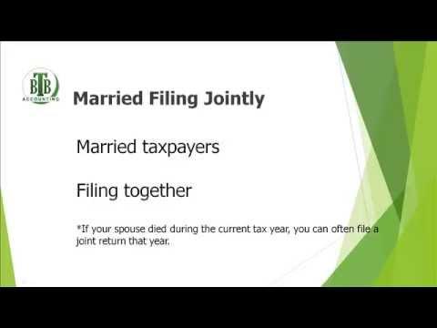 Choosing The Correct Tax Filing Status