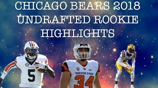 Chicago Bears 2018 Undrafted Rookies Highlights/Hype