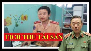 🔴TRỰC TIẾP: Công an Hà Nội hoàn tất thủ tục tịch thu quân phục, quân hàm của Đại úy Lê Thị Hiền